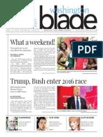 Washingtonblade.com, Volume 46, Issue 25, June 19, 2015