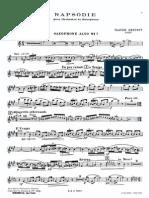 Claude Debussy - Rapsodie Pour Orchestrt Et Saxophone (Sax-Alto & Piano)