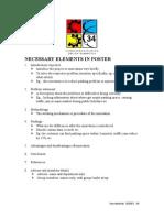 SEDEX Necessary Elements in Poster
