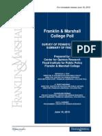 Franklin & Marshall Poll - June 2015
