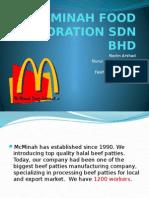 Mcminah Food Corporation Sdn Bhd