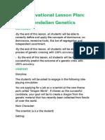 a motivation lesson plan mendelian genetics v1