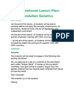 a motivation lesson plan mendelian genetics v1