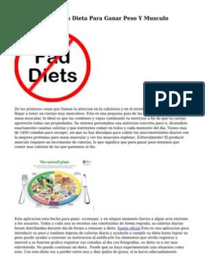 dieta para ganar musculo y peso
