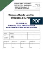 PO-SQM-LB-12 - Manejo de Suelo Impregnado Con Hidrocarburo Rev. 1
