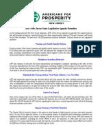 AFP-NJ State Legislative Agenda 2015