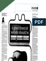 A Good Financial Website Should Be