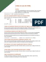 Práticas estabelecidas no uso do VHDL