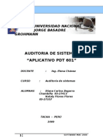 Auditoria Al Aplicativo Pdt 601 True