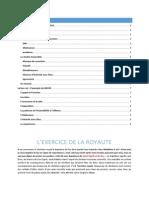 L'Exercice de La Royauté