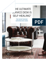 'The ultimate service desk is self-healing' - The secret behind satisfied end users