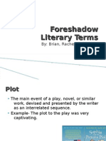 Foreshadow Literary Terms