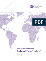World Justice Project's Rule of Law Index 2015 report