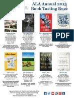 ALA Annual 2015 Book Tasting Buzz Handout