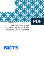 Presentation on Tutorial Question on Promissory Estoppel