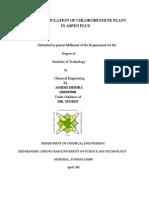 Simulation Of Chlorobenzene Plant By Using Aspen Plus
