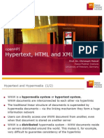 W1-02 Hypertext HTML and XML