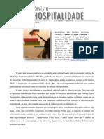 Resenha Cultura e Acao Cutural de Newton Cunha- Silva 2012