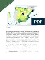 Mapa coropletas Densidad población española