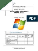 Lab. 01 - Instalación de Windows