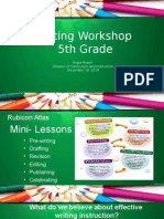 writing workshop 5th grade december 2014