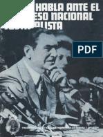 Discursos Peron ante el congreso justicialista