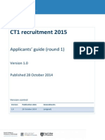 CT1 Recruitment 2015