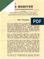 New Age Monitor 05-1986, Vol. 1, No. 1
