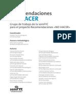Recomendaciones No Hacer (semFYC)