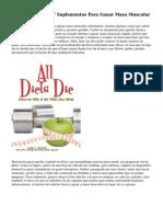 Dietas, Ejercicios Y Suplementos Para Ganar Masa Muscular