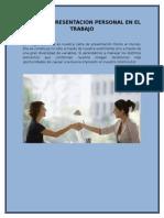 Imagen y Presentacion Personal en El Trabajo