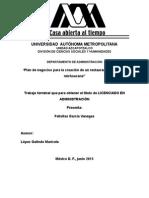 Plan de Negocios Para La Creacion de Un Restaurante de Comida Michoacana