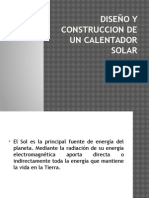 Diseño y Construccion de Un Calentador Solar