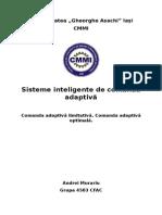Sisteme Inteligente de Comandă Adaptivă