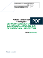 Acta Del Proyecto