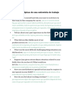 12 Preguntas Típicas de Una Entrevista de Trabajo (Inglés)