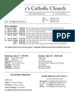 Bulletin for June 21, 2015