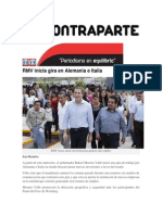 18-06-2015 Contraparte - RMV Inicia Gira en Alemania e Italia