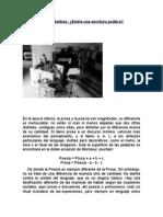 Roland Barthes - Existe Una Escritura Poética