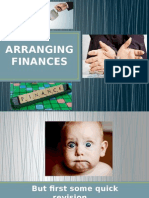 arranging finances
