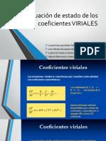 Ecuación de Estado de Los Coeficientes VIRIALES