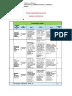 Rubrica Analitica de Evaluacion 1 2015