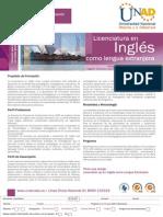 Plegable - Licenciatura en Inglés