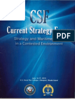 Thayer Strategy and Maritime Power in a Contested Environment