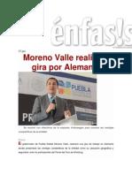 17-06-2015 Énfasis.com.Mx - Moreno Valle Realizará Gira Por Alemania