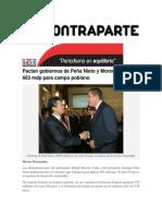 18-06-2015 Contraparte - Pactan Gobiernos de Peña Nieto y Moreno Valle 663 Mdp Para Campo Poblano