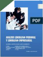 Analisis Liderazgo Personal y Liderazgo Empresarial