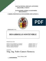 DESARROLLO SOSTENIBLE, SEMINARIO Nº 01