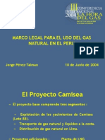 Marco Legal Para El Uso Del Gas Natural en El Peru-Jorge Per