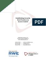 Access Control Best Pratices Study v1.01